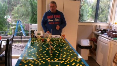 The Greatest Board Game of All: Bob Farrell has perfected his rugby league board game.
