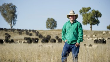 """Young farmers are """"doing things differently"""", says Cameron Ward on his property Kelvin, near Gunnedah."""