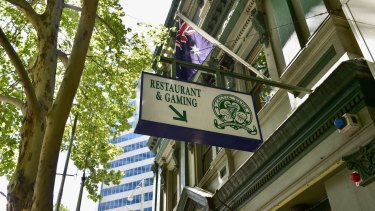 The Celtic Club on the corner of Queen and La Trobe Streets.