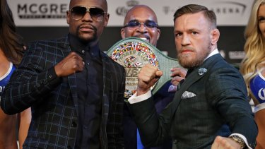 New levels of hype: The Mayweather v McGregor bout has the world talking about boxing.
