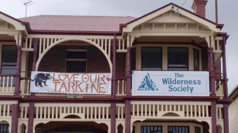 The Hobart HQ of the Wilderness Society. Louise Sales has her Friends of the Earth desk - which is not part of the Wilderness Society - in the back of this building.