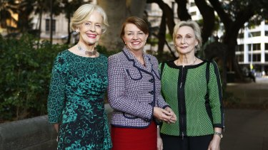 Quentin Bryce, Anna Bligh and Elizabeth Bryan in Sydney on May 3.