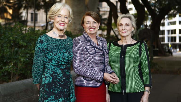 Quentin Bryce, Anna Bligh and Elizabeth Bryan in Sydney on May 3.