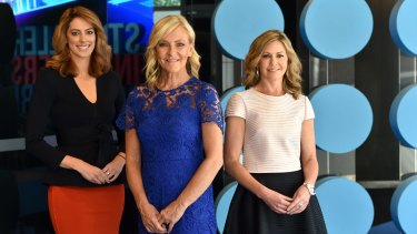 Channel 9/ Southern Cross regional newsroom presenters announcement which are (Lto R) Samantha Heathwood, Jo Hall, and Vanessa O'Hanion.