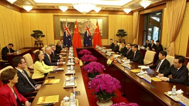 Malcolm Turnbull leads an Australian delegation in meetings with China's Xi Jinping. It's a challenging relationship.