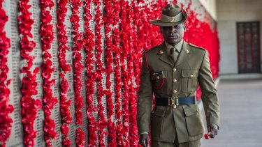 """Private Theogene Ngamije joined the Australian Army to """"pay back"""" the """"beautiful nation, specifically the peacekeeping soldier that helped me."""""""
