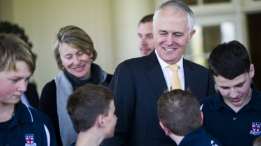 Important: Prime Minister Malcolm Turnbull has said education is crucial in Australia's economic future and hopes are high he will fund the final two years of Gonski.