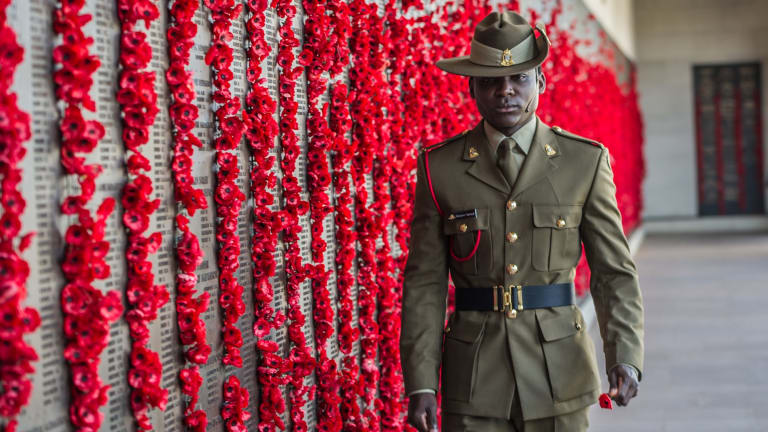 "Private Theogene Ngamije joined the Australian Army to ""pay back"" the ""beautiful nation, specifically the peacekeeping soldier that helped me."""