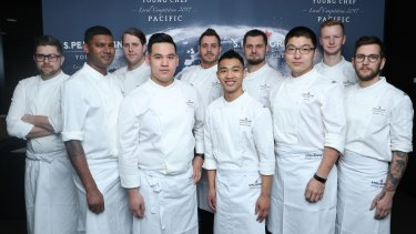 The all male semi-finalists in the S.Pellegrino Young Chefs competition.