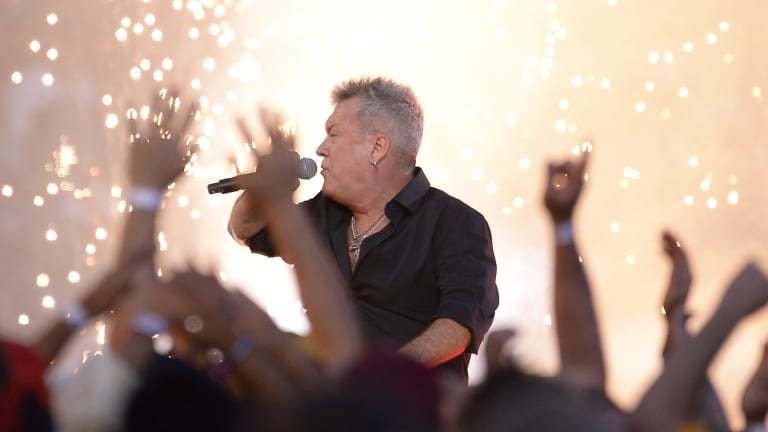 Electric: Cold Chisel perform ahead of the 2015 NRL Grand Final.