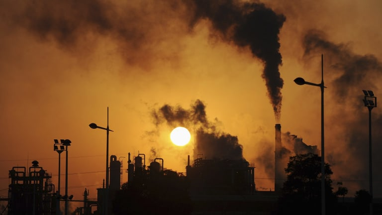 A factory in eastern China: Climate change is top of the agenda.