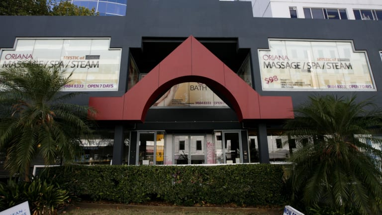 Busted: Oriana Bath House in Chatswood was shut down.