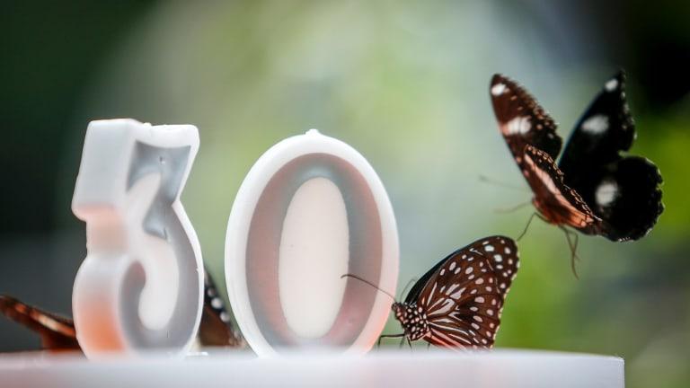 Even social butterflies can set a few financial goals for their 30th birthday.