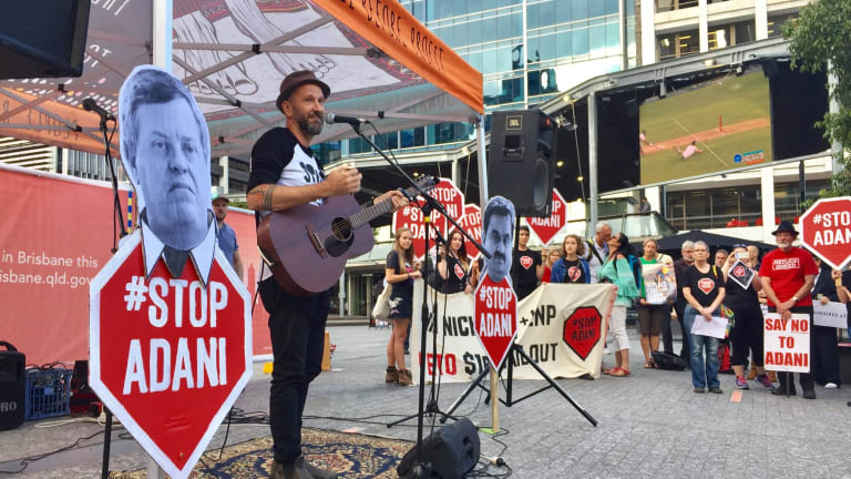 Registered charities have participated in high-profile environmental protests against the Adani project.