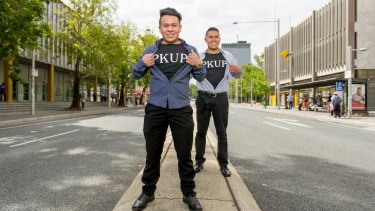 PKUP founders Joshua and Oscar Gonzalez have launched a start-up to get Canberrans and their cars home safely.