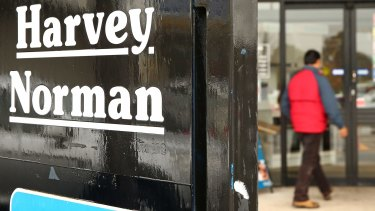 "Harvey Norman has posted a ""record-breaking result"", its chairman Gerry Harvey said."