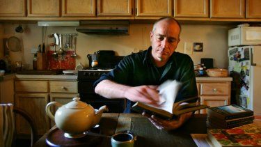 Playwright Michael Gurr at home in  2006.