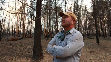 Martin Lill, son of stud farmer Stephen Lill, who lost more than 200 stud cattle in the fire.