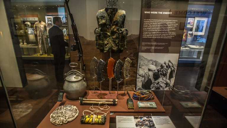 Some more objects on display at the War Memorial's new Middle East exhibition.