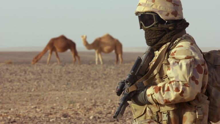 An Australian commando in Iraq.