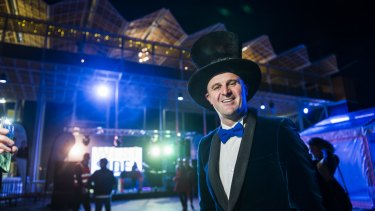 Chief Minister Andrew Barr at the Mad Hatters party at Westside.