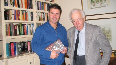 With his mentor, the late Zelman Cowen.