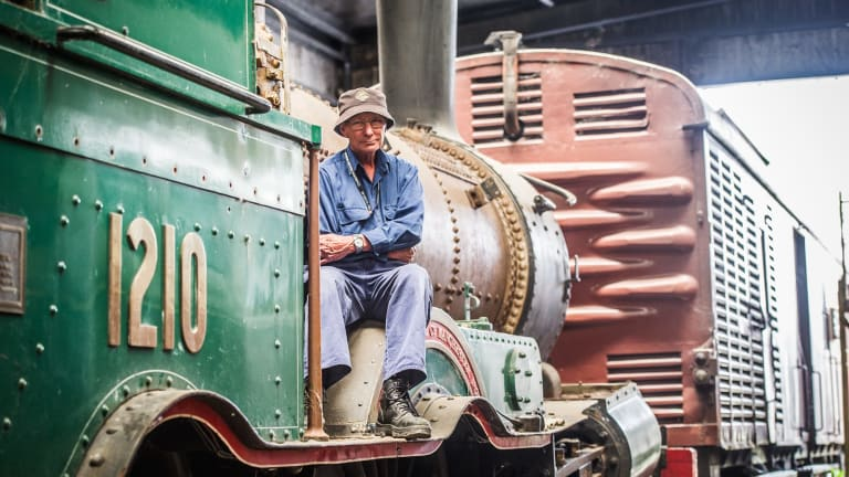 Canberra Railway Museum's John Cheeseman is saddened by the theft of train parts.