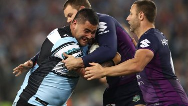 Upset: Andrew Fifita has threatened to quit the NRL after being deemed ineligible for Kangaroos selection.