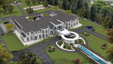 The mansion also has plans for a helipad.
