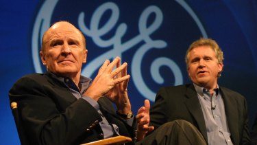 There had been great expectations when Jeffrey Immelt, right, replaced the legendary Jack Welch, left, as CEO back in 2001.