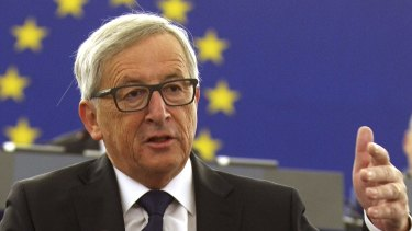 EU president Jean-Claude Juncker calls on EU countries to agree to share 160,000 refugees.