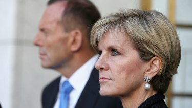 Julie Bishop has spoken on her loneliness as the only woman in Tony Abbott's cabinet.