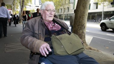 Robert Kingsley Whitehead outside Melbourne Magistrates Court earlier this year.