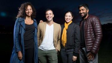 Actors Melissa Bonne, Tyler De Nawi, Kimie Tsukakoshi and Chum Ehelepola.