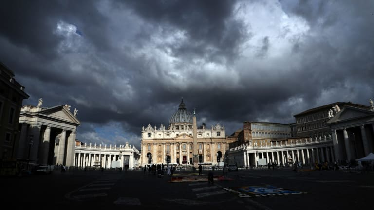 Clouds hang over the Vatican on Thursday, June 29. The Catholic Archdiocese of Sydney says Vatican Cardinal George Pell will return to Australia to fight sexual assault charges as soon as possible.
