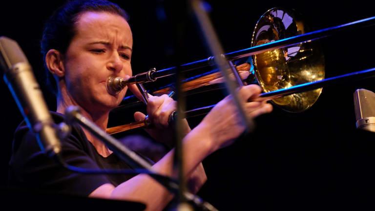 Cologne-based trombonist Shannon Barnett.