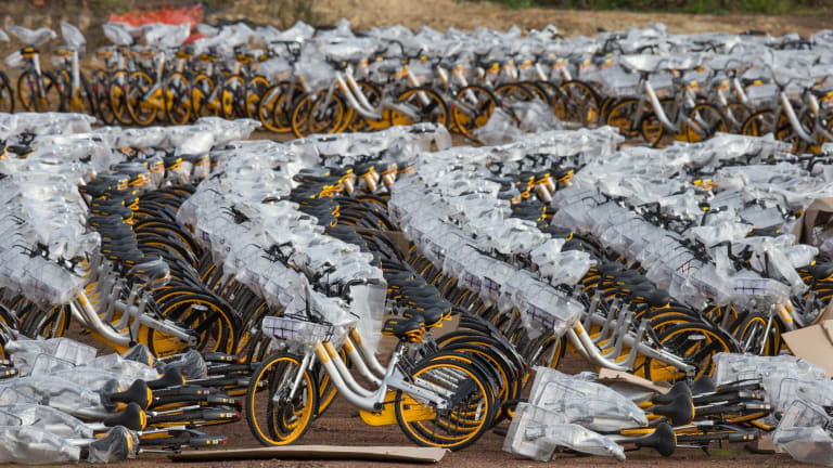 The advent of oBike calls into question uses of public space.
