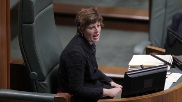 Ms Burke, pictured in 2013 while speaker.