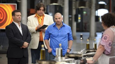 Watchful eyes: The <i>MasterChef Australia</i> judges follow all the action in the kitchen.