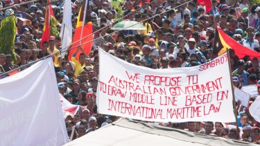 The maritime boundary has long been a contentious issue in East Timor.