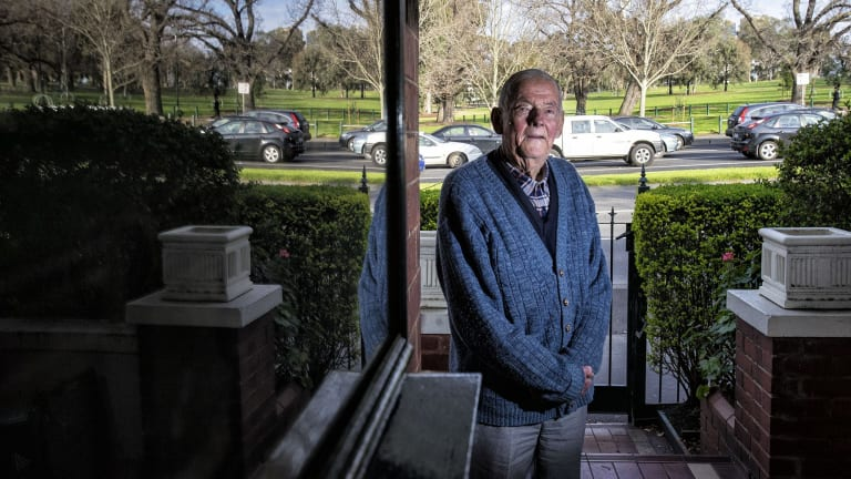 Len Ledwich in his home on Punt Road, Richmond.