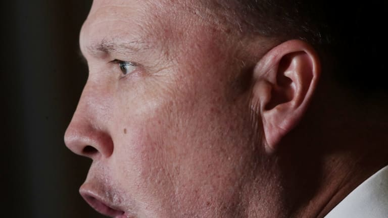 Immigration Minister Peter Dutton at Parliament House on Wednesday.