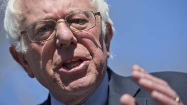 Democrat presidential candidate Bernie Sanders.
