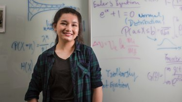 Rowena Stening, 17, has been named the top female year 12 student in Australia for an international maths competition.
