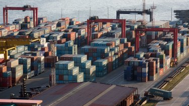 Exports were flat, while imports rose one per cent in August.
