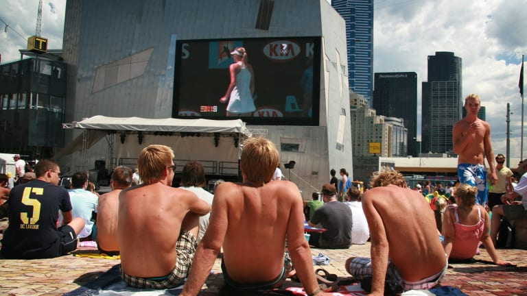 Fed Square bears the cost of screening events like the Australian Open.