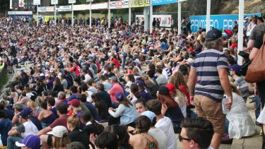 More than 10,000 people flocked to Fremantle Oval to watch the first Dockers AFLW home game in 2017.