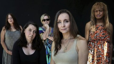 Silent tears: Photographers Denise Beckwith and Belinda Mason (front row, left to right) have told the stories of disabled abuse survivors Rochelle Taylor, Jeannine Burt and Amao Leota Lu (back row, left to right).