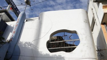 Apotek Sputnik, a former pharmacy in Semarang, opened the year after the Soviets' Sputnik satellite launch in 1957.