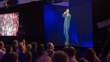 Australia's first 3D human hologram presentation was of Tony Robbins as a Humagram in Melbourne.